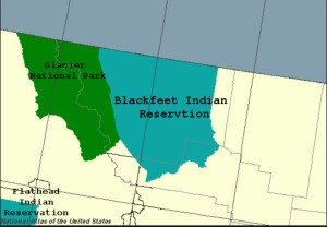 Blackfeet Reserve. The Piegan Blackfoot are located on the Blackfoot Nation in northwestern Montana near Browning. wikipedia