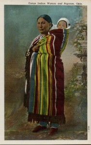 Osage woman with child.